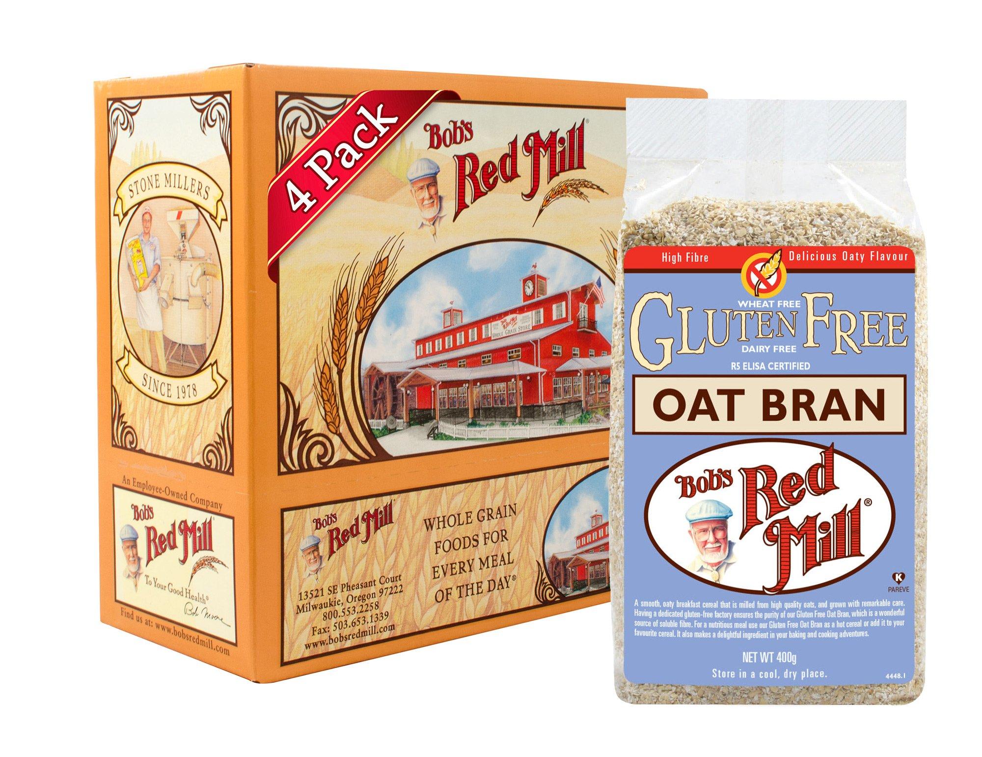 Bob's Red Mill Gluten Free Oat Bran, 18 Ounce (Pack of 4)
