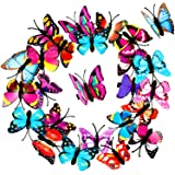 24 Pieces Butterfly Hair Clips Colorful Butterfly Barrettes 3D Halloween Butterfly Hair Clips for Women Party Favors