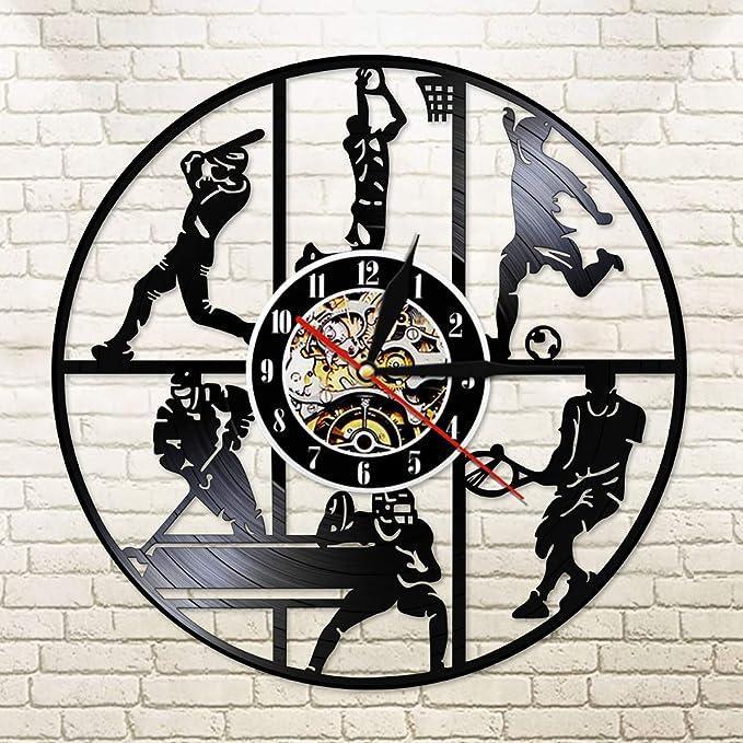 ESS Modern Sport Soccer Hockey Fútbol Vinilo Reloj de