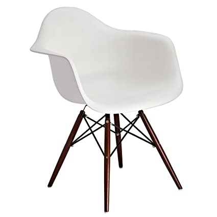 Cool Amazon Com Design Guild Banks White Arm Chair With Brown Ocoug Best Dining Table And Chair Ideas Images Ocougorg