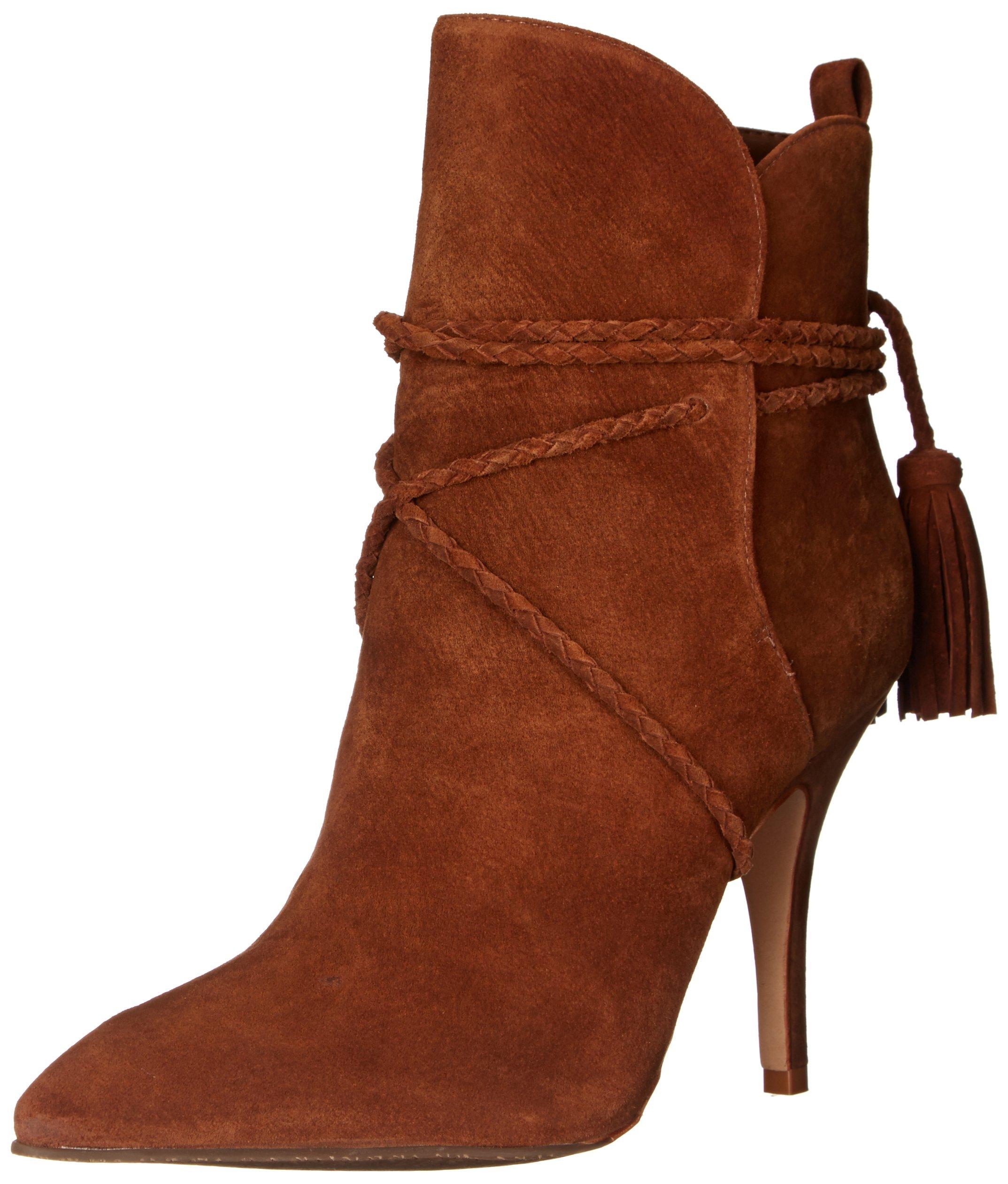SCHUTZ Women's Fadhila Western Boot, Wood, 8 M US