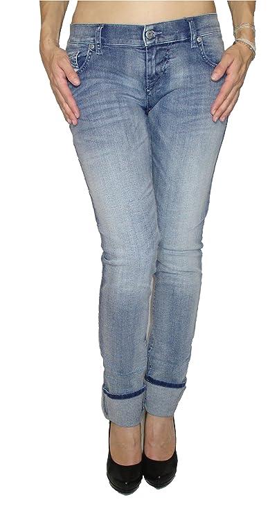 Diesel Damen Stretch Jeans GRUPEE 0667E Superslim Skinny blau