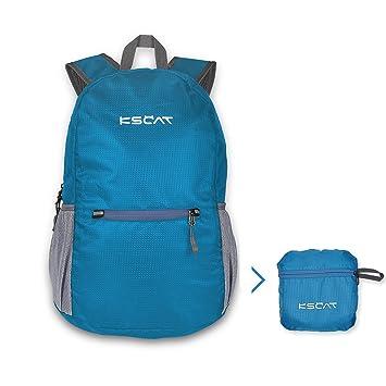 20L Mochila plegable/bolsas de trekking/bolsa impermeable/Bolsa plegable, ultra-ligero para Camping, Senderismo, Viaje, ciclismo para hombre Mujer.