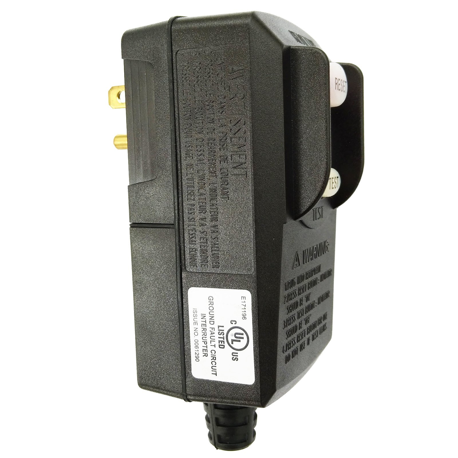 GFCI Replacement Plug Earth Leakage Circuit Breaker UL Listed RCD 120Volt 15Amp