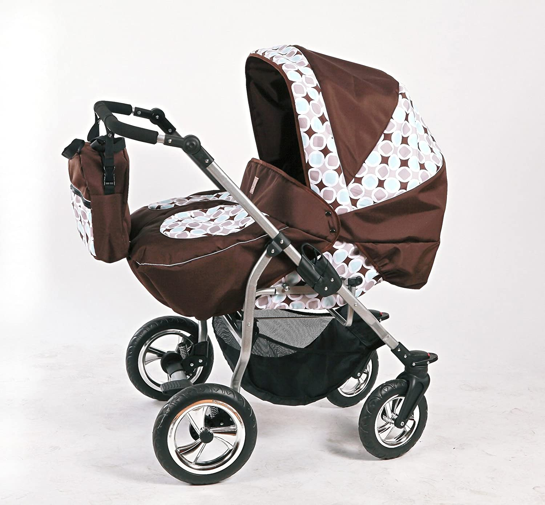 Design 1 Zwillingskinderwagen mit viel Zubeh/ör in 12 Farben und R/äder zur Auswahl