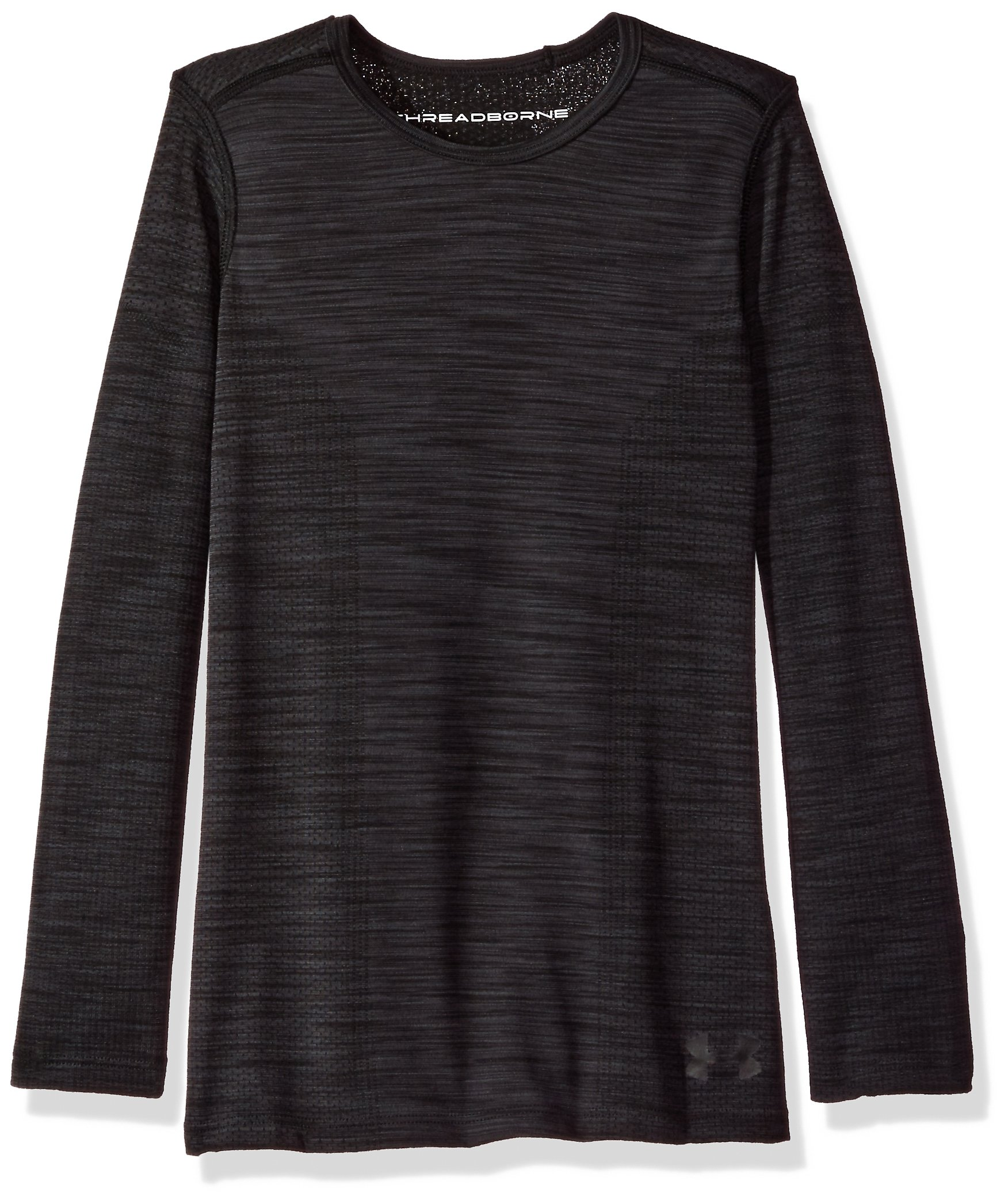 Under Armour Girls' Elevated Seamless Long Sleeve,Black /Black, Youth X-Small