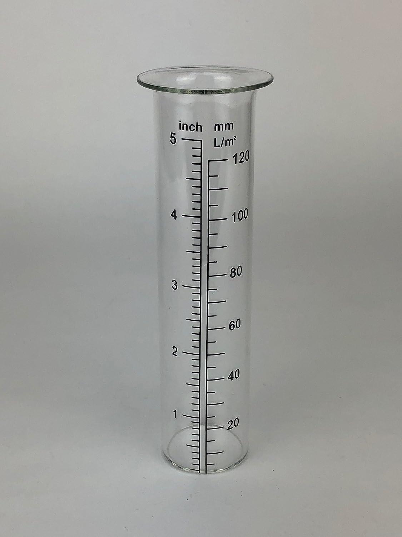 Crispe home & garden Regenmesser-Glas Durchmesser 3,4 cm Höhe 14 cm - Ersatzglas für Regenmesser im Wasserhahn-Look