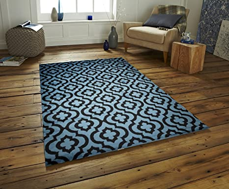 Amazon Com Msrugs Area Rugs Carpet Made From Turkey Blue 56 W X