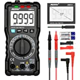 Digital Multimeter TRMS 9999 Counts MESTEK AC DC Current Voltage Auto-Ranging NCV VFC Battery Tester Amp Volt Ohm Hz Diode Resistance Frequency Capacitance Continuity Meter with Probes & Clips