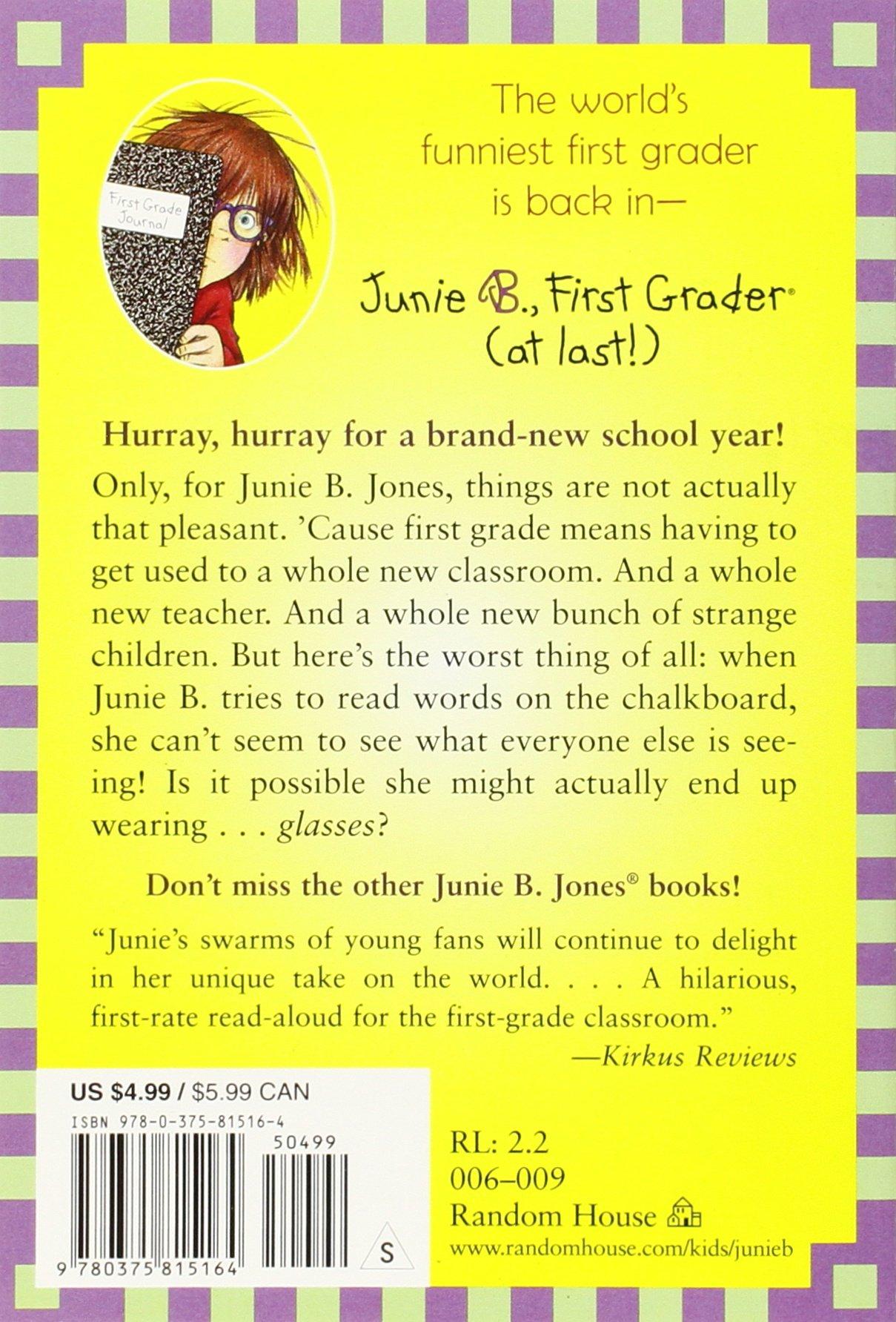 junie b first grader at last junie b jones no 18