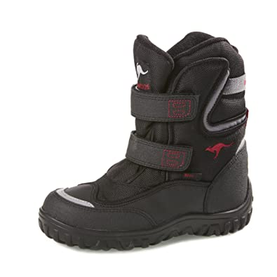 Großbritannien besserer Preis High Fashion KangaROOS ROOSTEX Winter Boots, Size 31 EU, black/red ...