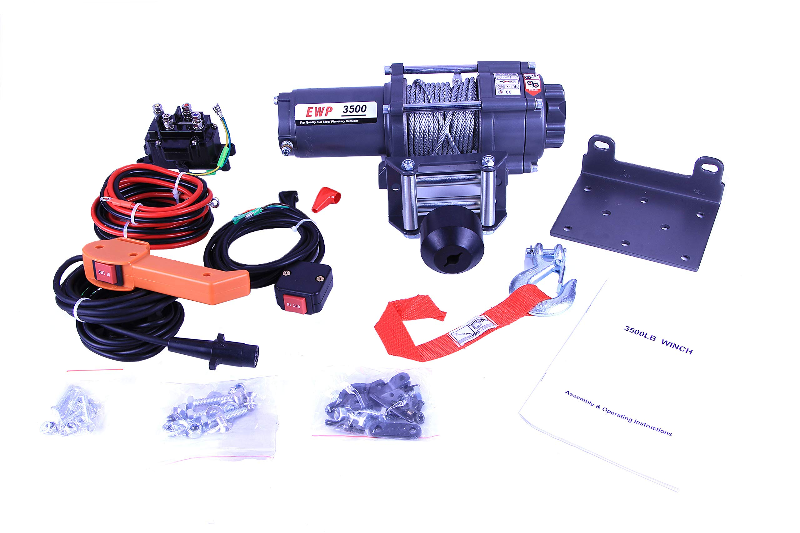AC-DK 12V 3500lb ATV Winch UTV Winch Electric Winch Set for 4x4 Off Road (3500lb Winch with Cable) by AC-DK (Image #3)