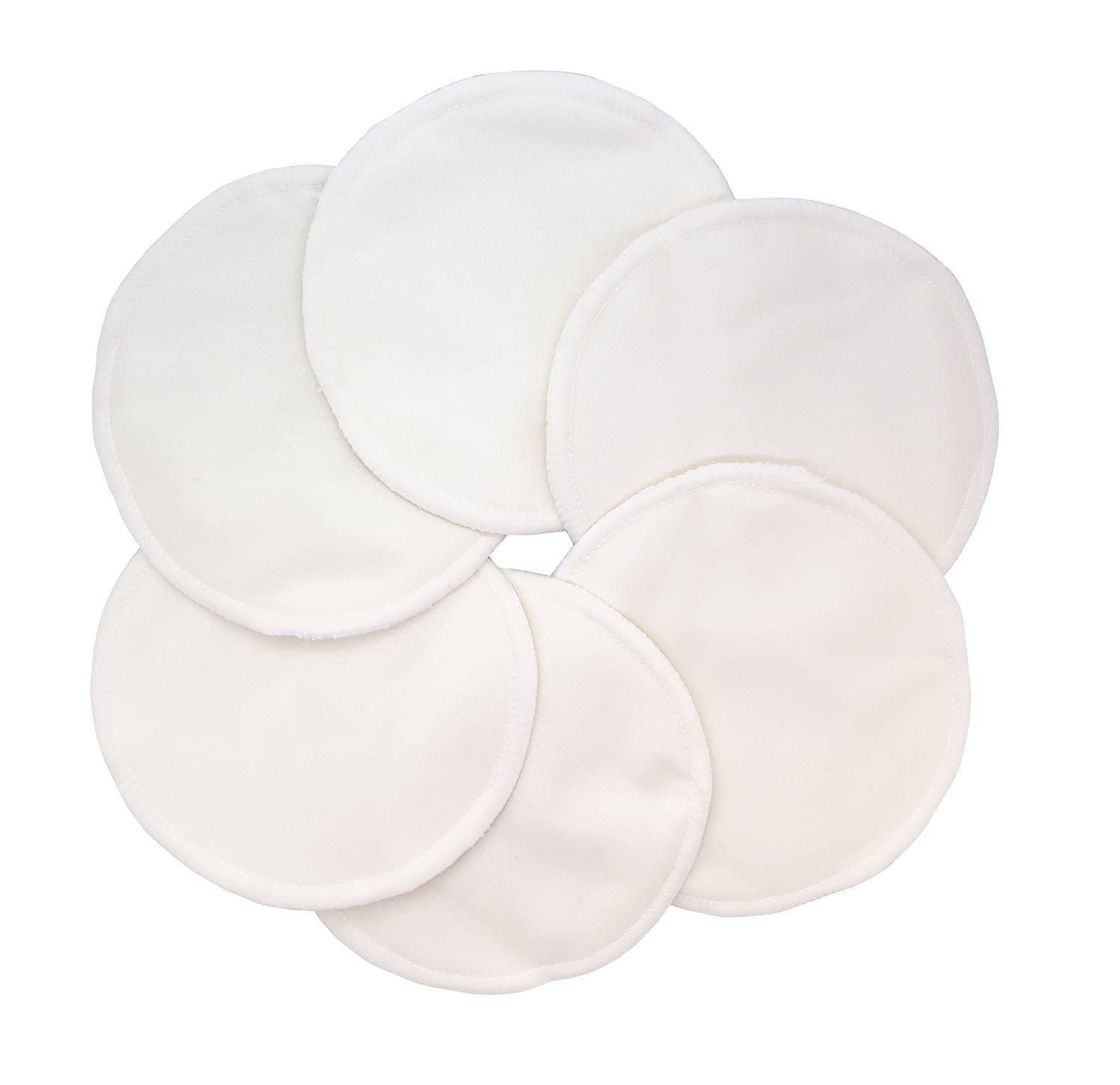 Pack of 12, Pink Ana Wiz Washable Natural Bamboo Breast Pads