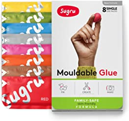 Sugru Mouldable Glue - Family-safe | Skin-friendly Formula - New Colours 8-Pack