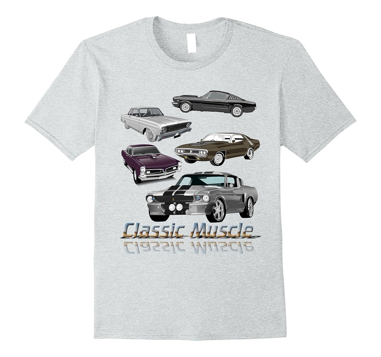 Classic Muscle Maximum Horsepower Car Logo T-Shirt-BN
