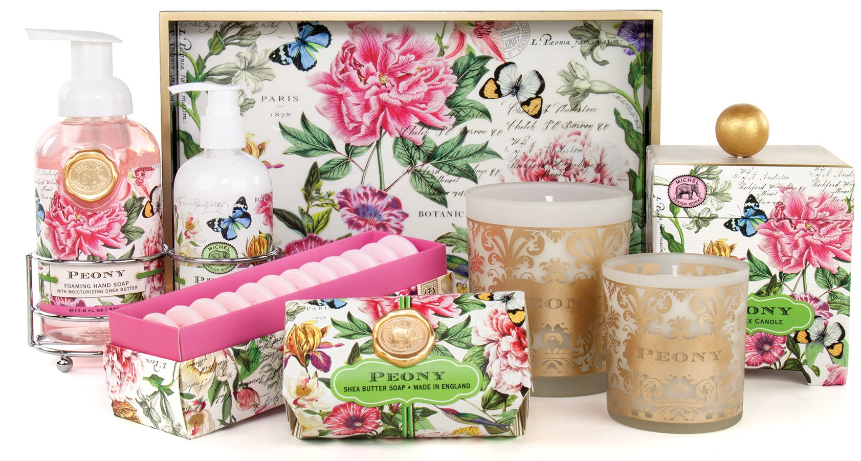 Michel Design Works 25 Count Peony Paper Placemats by Michel Design Works (Image #2)