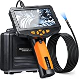 5 inches IPS Inspection Camera, Teslong Dual Lens Borescope-Endoscope Camera, Snake Camera with 8mm 10ft Flexible Cable, IP67
