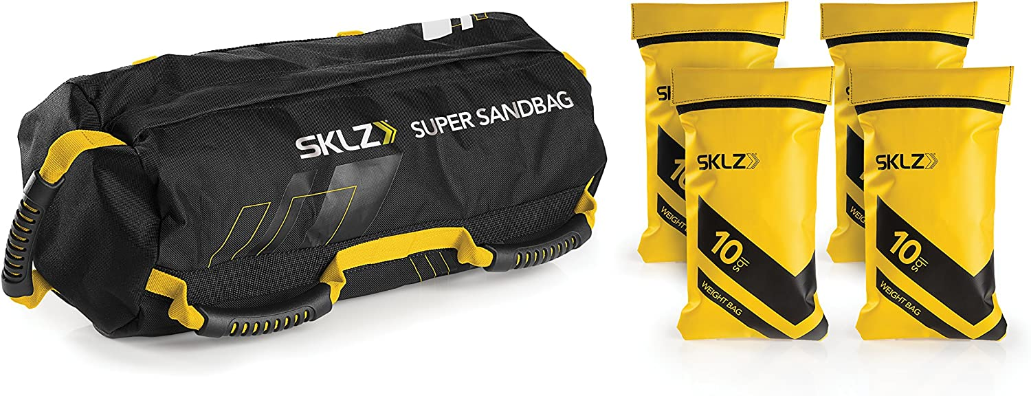 40lbs Sand Bag Weighted Training Bag Weight Lifting Trainer w// 4 Filler Bag