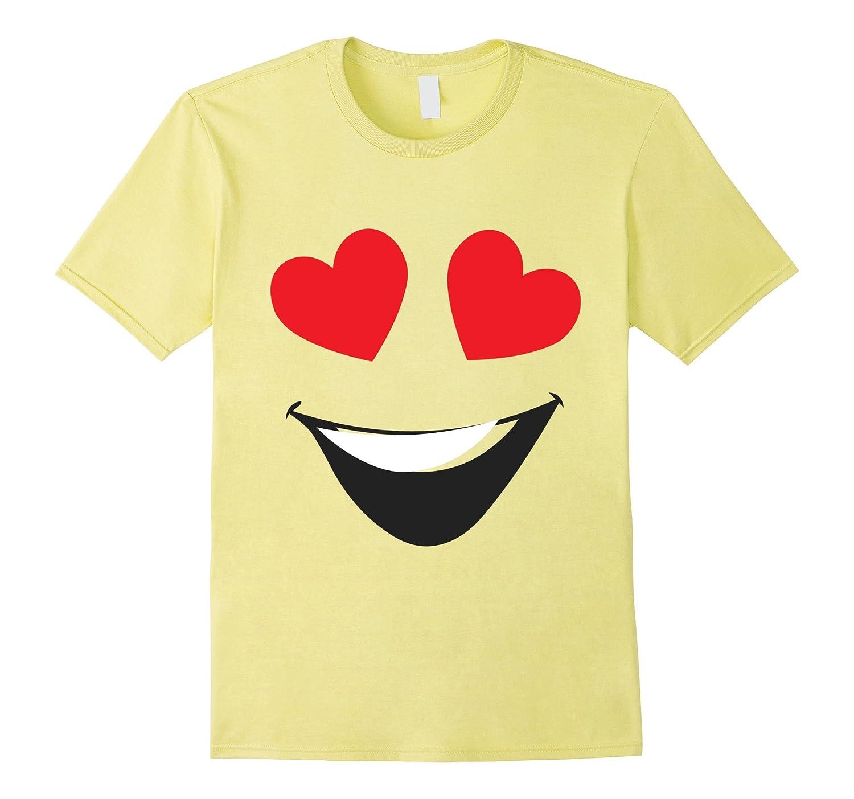 Halloween Emoji Shirt Heart Eyes Birthday Tshirt ANZ