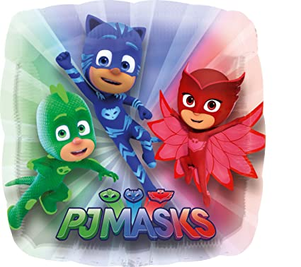 "Pj Masks Birthday Party 28"" Super Shape Jumbo Foil Balloon, Sold Deflated"