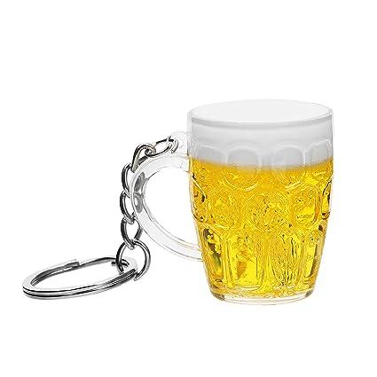 iTimo - Llavero de Resina con Forma de Copa de Cerveza ...