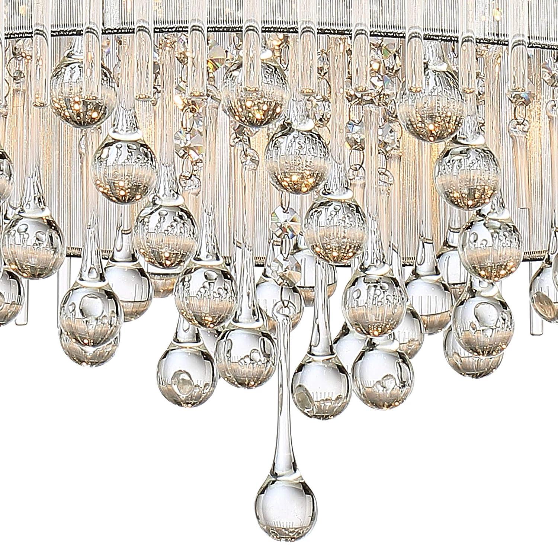 Ashton 24 Wide Chrome Crystal Pendant Light Vienna Full Spectrum