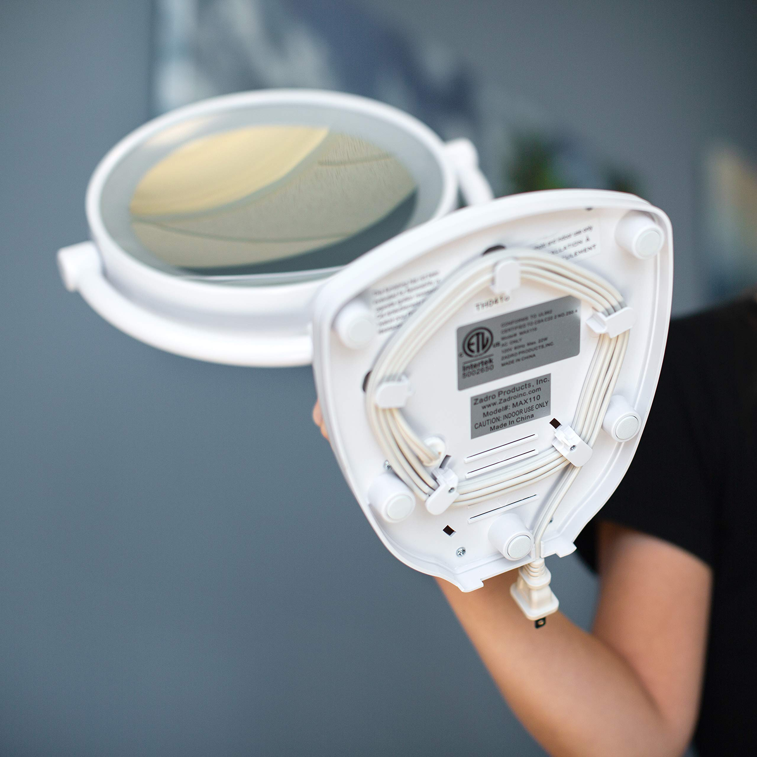 Zadro Max Bright Sunlight Dual Sided Vanity Mirror, White, 10X/1X Magnification by Zadro (Image #5)