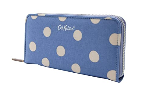 Cath Kidston Wallet Cartera con cremallera continental, azul ...