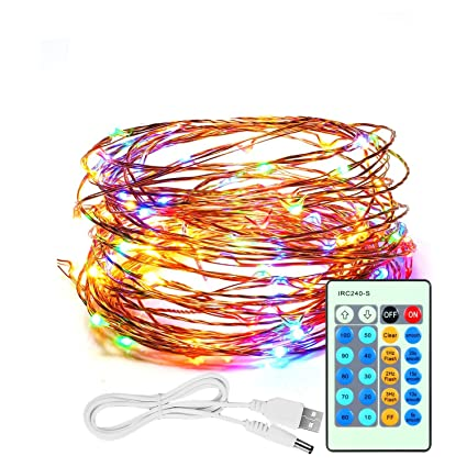 CREATIVE DESIGN Starry String Light, 150 LEDs 49ft Dimmable Copper on