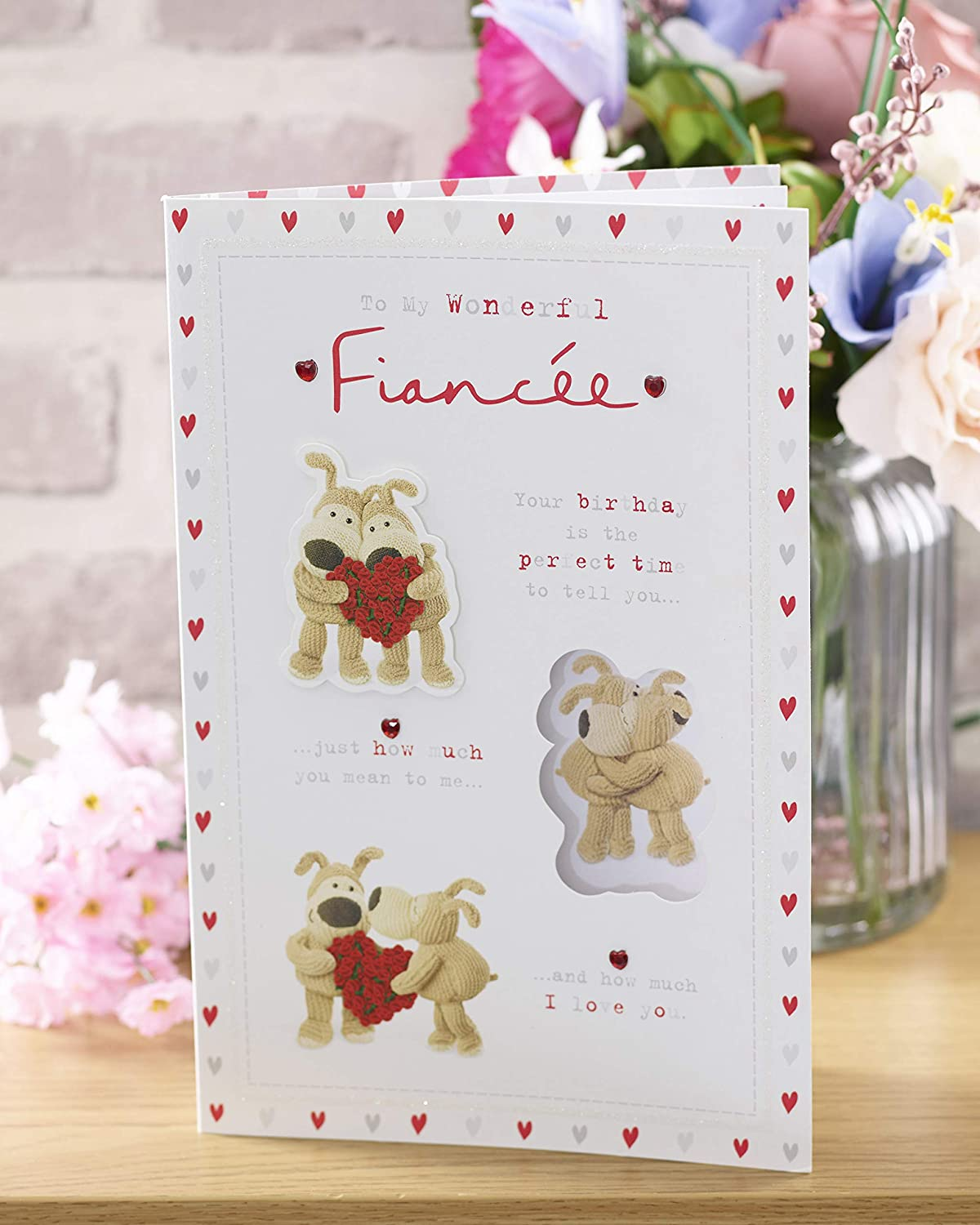 Giftcards for Her Cute Card for Girlfriend Fiance Birthday Gifts Birthday Card for Fiance Fiance Birthday Card Boofle Birthday Card