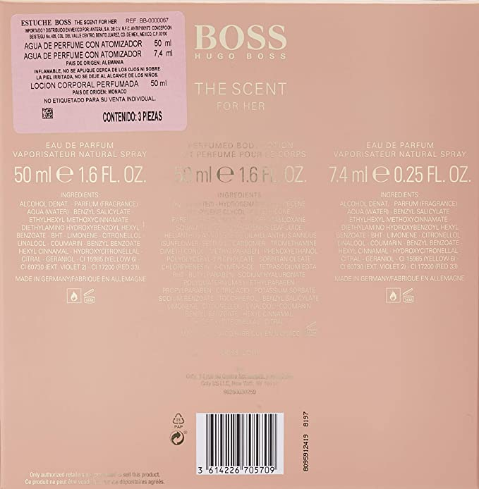Hugo Boss-Boss The Scent for Her, 3 productos, 107 ml: Amazon.es: Belleza