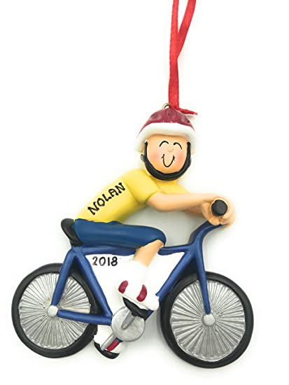Personalized Male Bike Rider Boy Riding Bicycle Christmas Ornament 2018  Free Personalization - Amazon.com: Personalized Male Bike Rider Boy Riding Bicycle