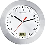 bresser mytime bath horloge murale analogique pour la salle de bain blanc - Horloge Salle De Bain Ventouse