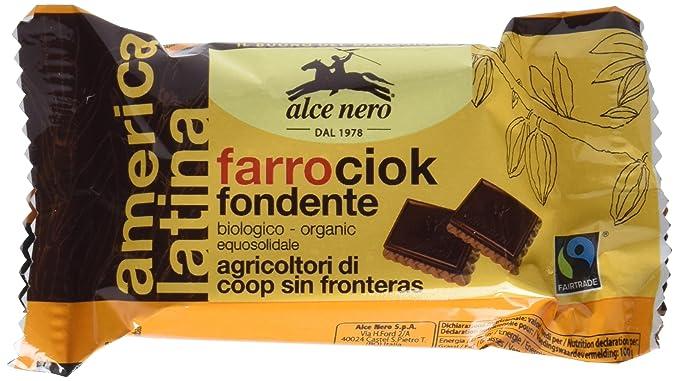 Galletas de espelta cubierta de chocolate oscuro bio - Paquete de 24 x 28 gr -