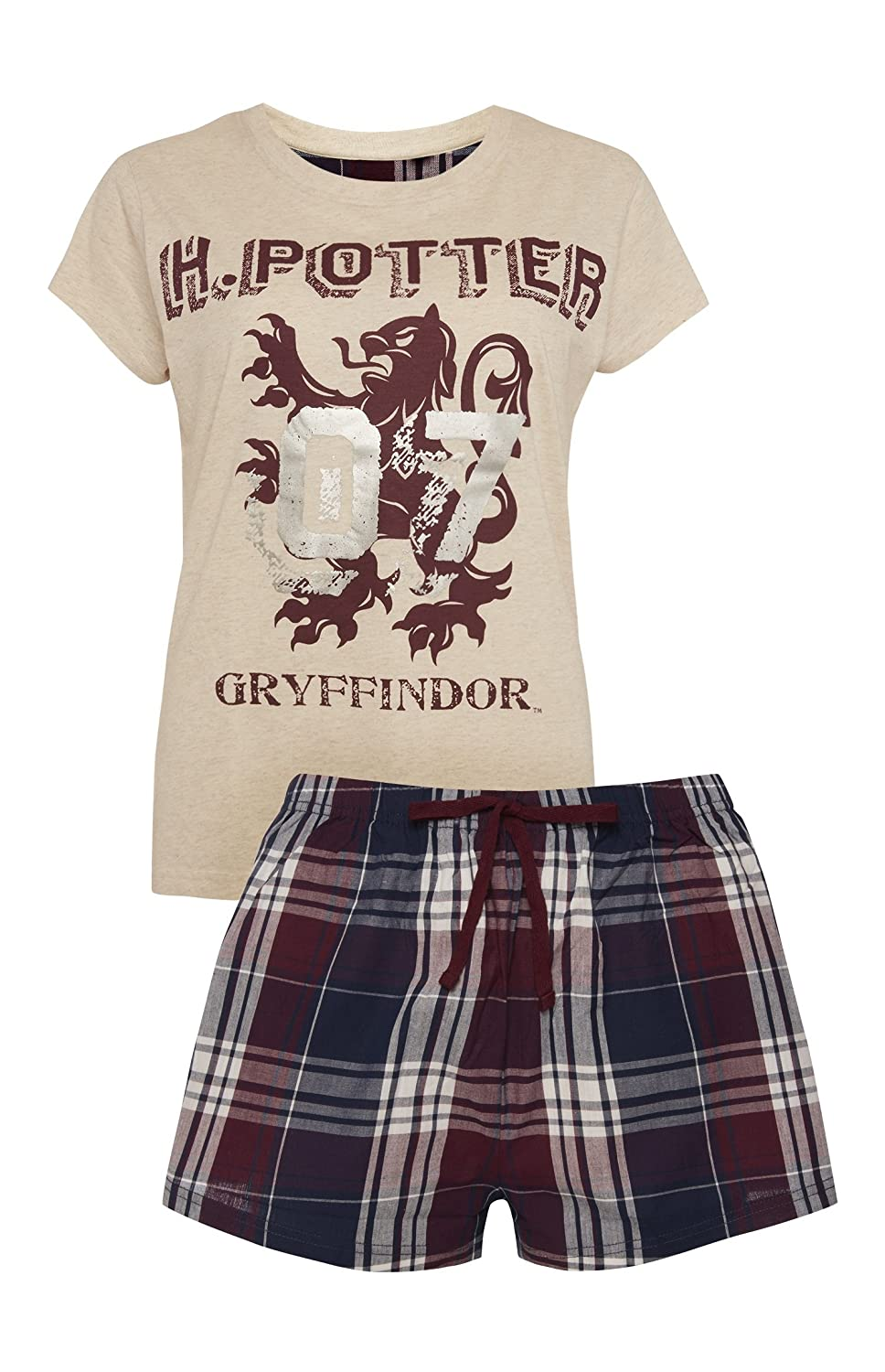 Harry Potter by PRIMARK - Pijama - para Mujer Cream/Burgandy Medium: Amazon.es: Ropa y accesorios