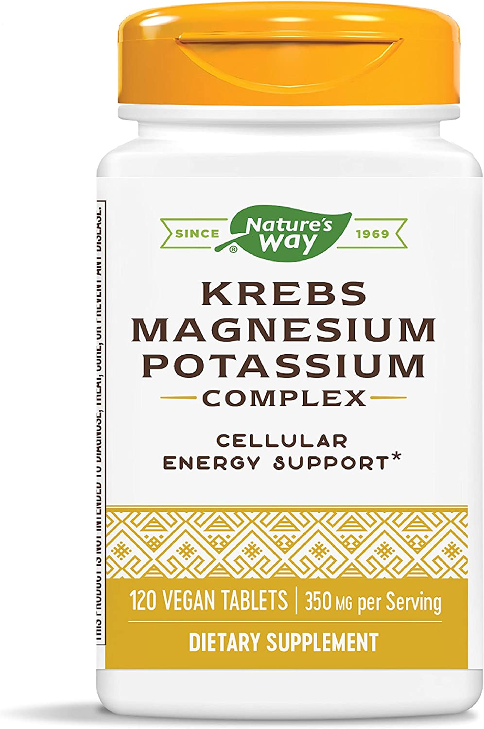 Nature's Way Krebs Magnesium Potassium Complex, 350 mg per Serving, Energy & Heart Health, 120 Count