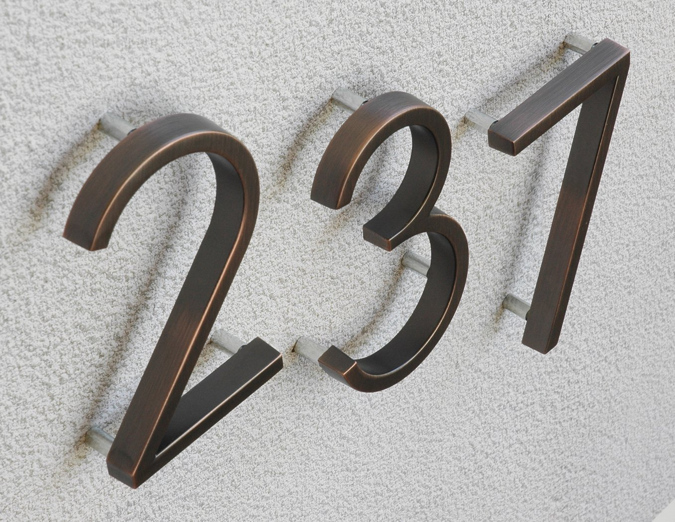 Distinctions by Hillman 843229 5-Inch Die Cast Floating/Flush Mount House Number, Aged Bronze, Number 4 by Distinctions by Hillman (Image #7)