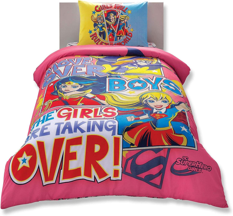Disney Super Hero Girl's Duvet/Quilt Cover Set Single / Twin Size Kids Bedding