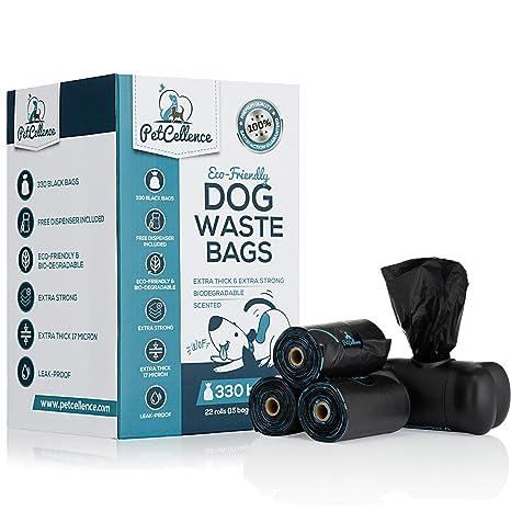 PetCellence Bolsas caca perro biodegradables - 22 rollos ...