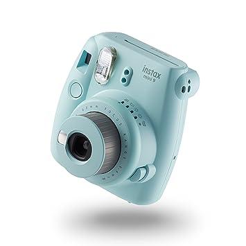 bb6da9c0e2 instax Mini 9 Camera with 10 Shots - Ice Blue: Amazon.co.uk: Camera ...