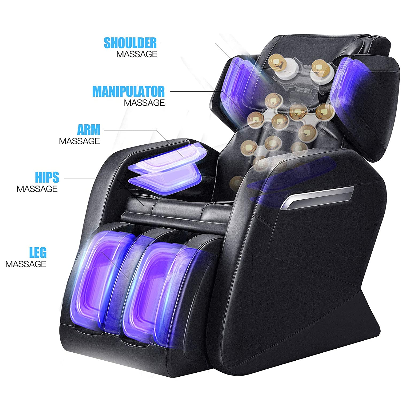 OOTORI Full Body Electric Massage Chair, Zero Gravity,Back Heating, Zero Space Design Black