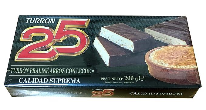 Turron25 - Turron Praliné Arroz con Leche - Turron de Arroz con leche - Calidad Suprema