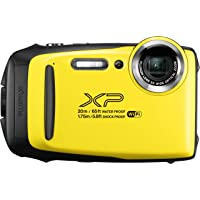 "Fujifilm 16573401 - Cámara acuática de 3"" (Wi-Fi, estabilizador óptico, video Full HD, Bluetooth, 16.4 MP) color amarillo"