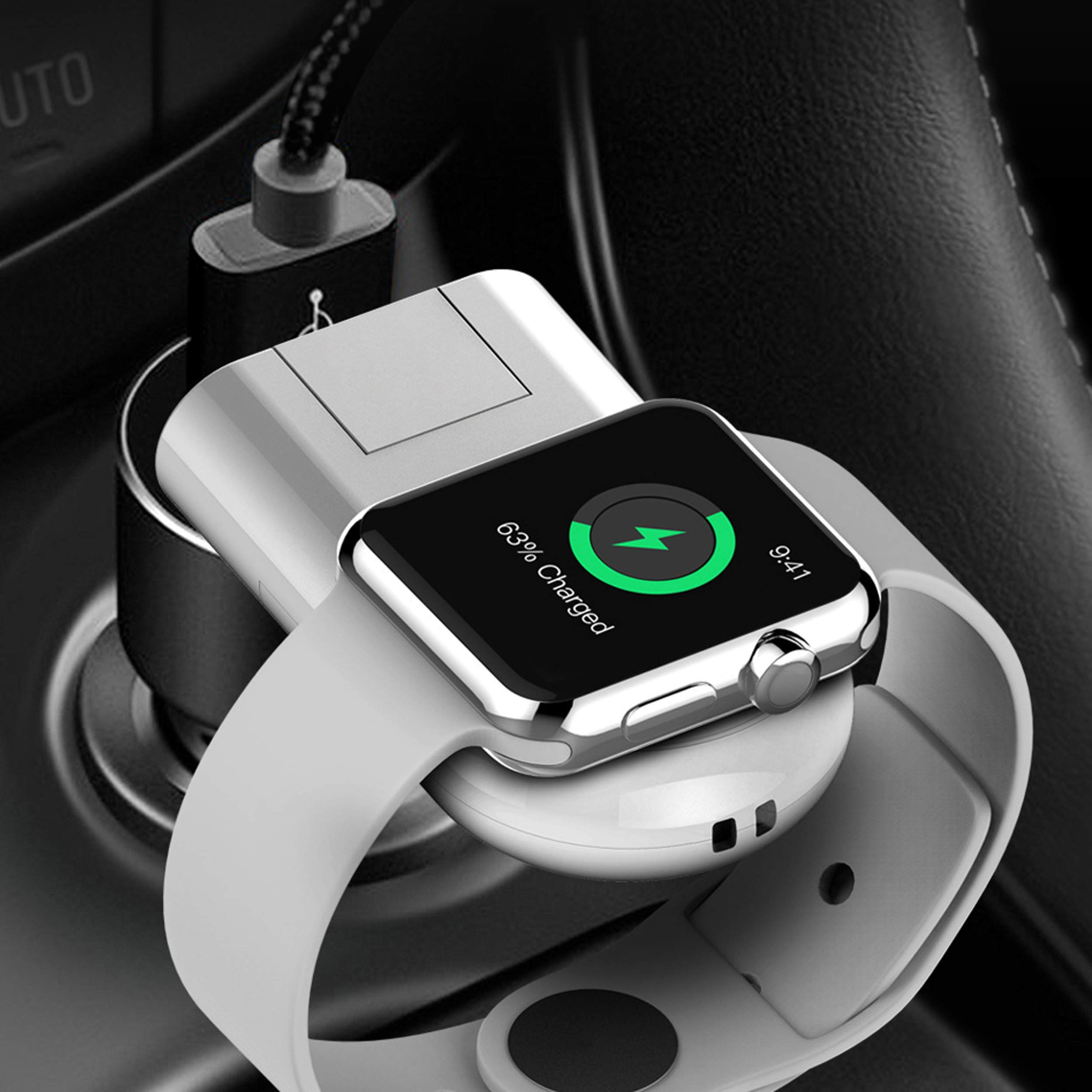 Bysionics for Apple Watch Wireless Charger, Wireless Charger and Wireless Magnetic Charging Dock Holder USB Charging Compatible for Apple Watch Series 4/3/2/1 White by Bysionics