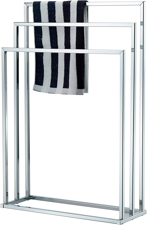 Taylor & Brown® Free Standing Chrome 3 Bar Towel Rail Rack Holder