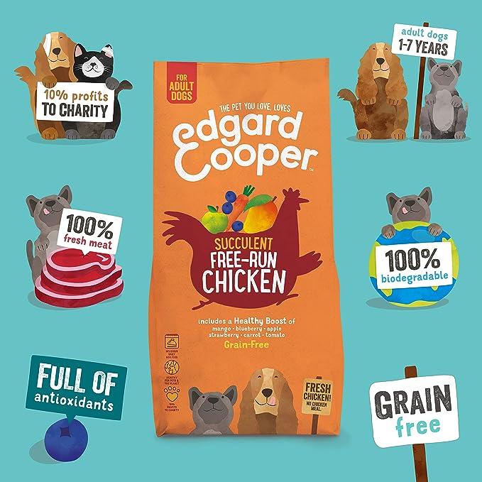 Edgard & Cooper | Pollo de Granja con Mango, arándanos ...