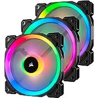 Corsair CO-9050072-WW LL120 RGB, 120mm Dual Light Loop, RGB LED PWM Fan- Black (Triple Pack), Lighting Node PRO Included