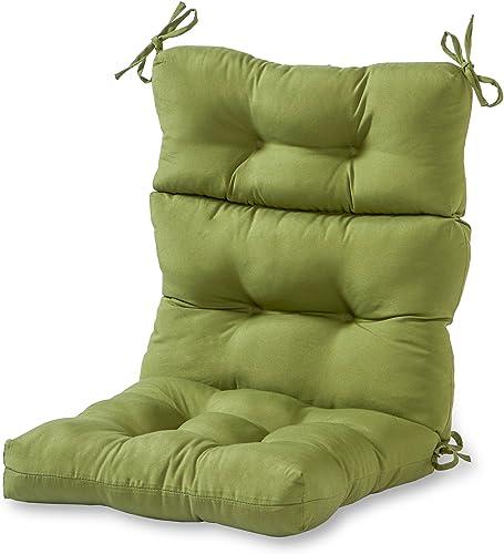 Greendale Home Fashions AZ4809-HUNTERGREEN Juniper 44'' x 22'' Outdoor Seat/Back Chair Cushion