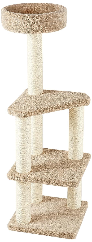 AmazonBasics Árbol de actividades con poste rascador para gatos grande
