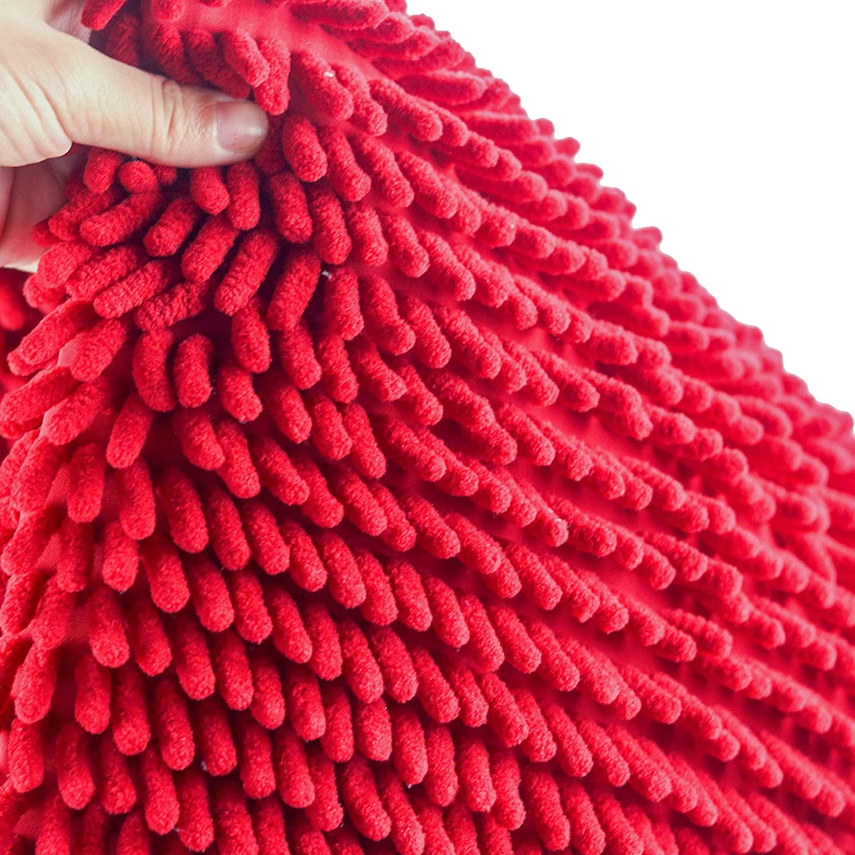 Lavable en Machine Rouge Moelleux Absorbant Tapis de Douche Microfibre de Chenille |pour Salle de Bain Epais HEQUN Tapis de Bain Qualit/é Absorbant Antid/érapant Extra Epais 50x80x4cm